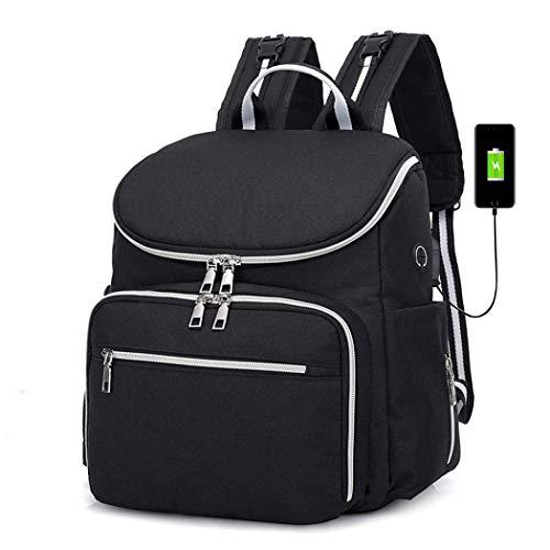 Zoylink Reise Windel Rucksack Windeltasche Multifunktionale USB Port Windeltasche für den Außenbereich