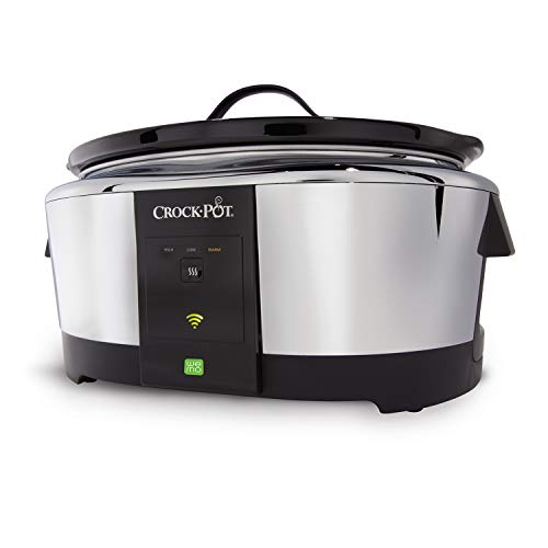 Crock-Pot SCCPWM600-V2 6-Quart WeMo-Enabled Smart Slow Cooker, Stainless Steel