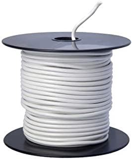 Southwire 55669023 Primary Wire, 14-Gauge Bulk Spool, 100-Feet, White