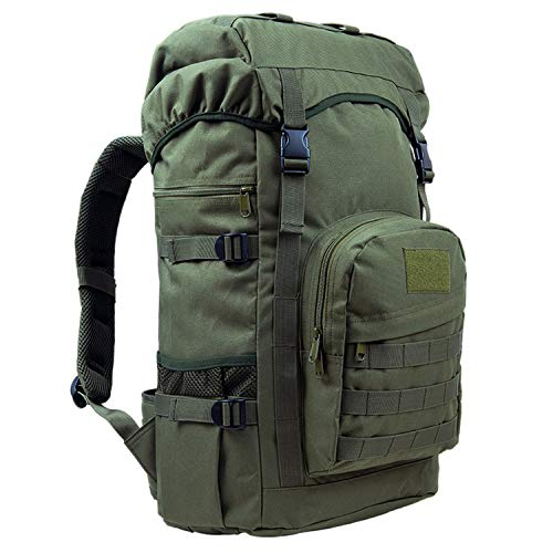 OASIS LAND 50L Outdoor Backpack Large Capacity Camping Bags Mountaineering Bag Men's Hiking Rucksack Travel Backpack-Green-OneSize