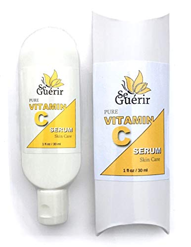 1 oz Pure Vitamin C Serum for Face, Powerful Antioxidant, Sun Damage Skin Repair, Repair Serum, Skin Lightening, Best Anti Aging Cream by Se Guérir