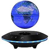 6 Pulgadas Bola del Mundo con Imanes con Luces Color LED,Azul Bola del Mundo para para Regalo Corporativo Educativo Decoración de Escritorio de Oficina en Casa