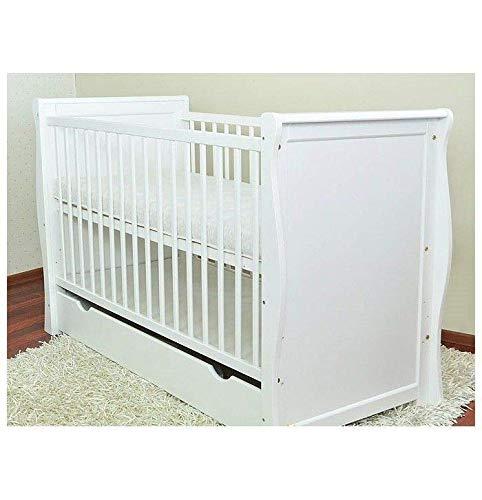 Cuna para bebé, cama para cuna, cuna blanca con cajón, cama junior, colchón sin espuma