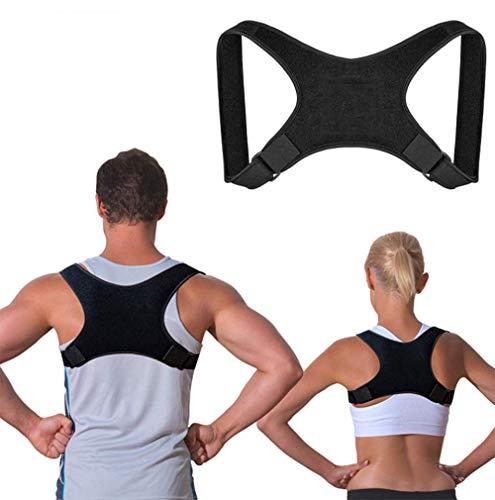 JHKGY Corrector De Postura para Hombres Y Mujeres El Mejor Soporte Ajustable para El Hombro Y La Espalda Mejora La Postura De La Espalda Superior del Hombro,M