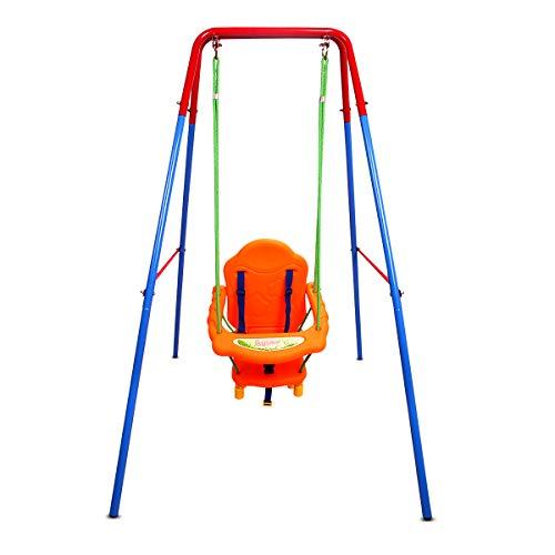 Maxmass 1-3 Years Kids Single Swing Set, High Backrest Support Toddler...