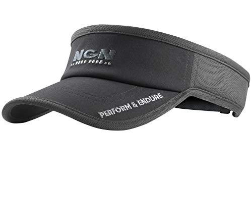 NGN - Sport Mesh Running Visor | Triathlon Visor | Run Sun Visor for Men & Women | Also for Golf, Tennis & Performance Sports Gray