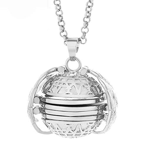 Fashion Necklace, Retro 4-Layers Openable Alloy Women Locket Pendant Aromatherapy Photo Necklace