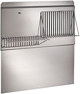 Broan RMP3604 Backsplash Range Hood Wall Shield with Removable Shelves for Kitchen, Stainless Steel, 36
