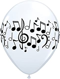 Qualatex Music Notes Balloons 50 Pack 11 Inch Latex White