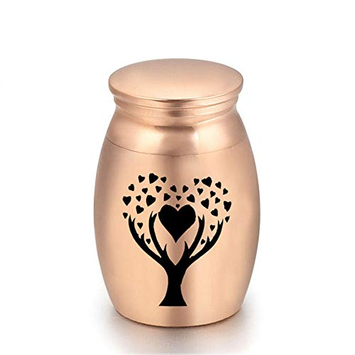DXQH Mini Urns For Ashes Cremation Urn With Tree Of Life Urns For Human Pet Ashes Aluminum Alloy Memorials -Loving Tree
