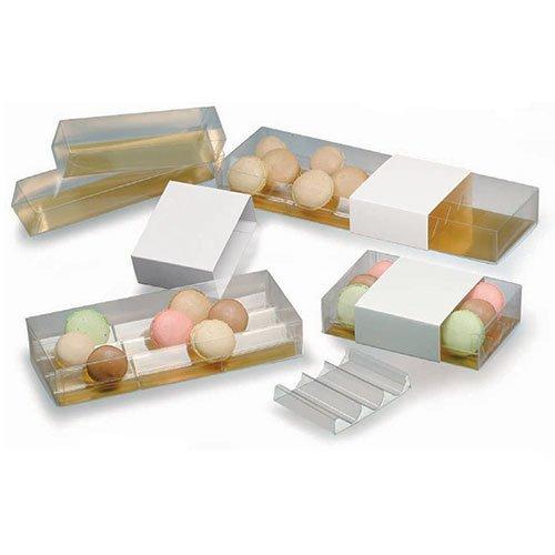 Cuisineonly–Scatola Ha Macaron PVC 50scatole 240x 45x 45mm- 9Macaron. Cucina: Intorno alla Pasticceria (Il Macaron del Capo)