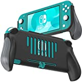 Grip for Nintendo Switch Lite, JUSPRO Ergonomic Comfort Handheld Protective Gaming Case Portable Cover Accessories Compatible with Nintendo Switch Lite (Black)