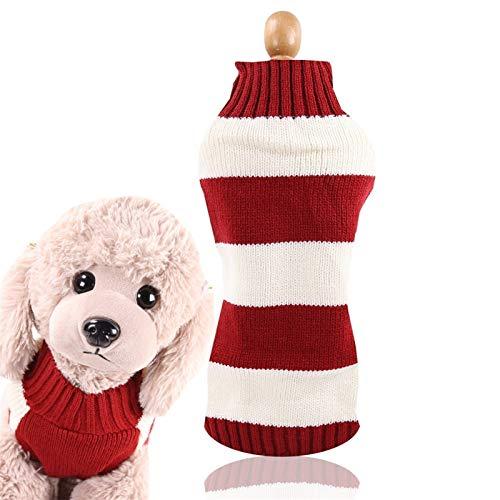 DHGTEP Jersey de Lana para Perros, Disfraces de Perros para Mascotas, Abrigo, Suéter, Peluche, Suministros de Ropa de Invierno, Suéter para Bulldog Francés, Perros Pequeños y Medianos