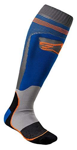 Alpinestars Unisex-Adult Mx Plus-1 Socks Blue/Orange Medium (Multi, one_size)