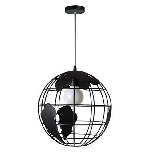 LEDMOMO Globo en forma de colgante Globo colgante de luz de techo Lámpara de araña en forma de lámpara colgante (Negro)