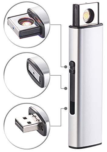 PEARL USB Stick als Feuerzeug: Elektronisches Akku-USB-Feuerzeug, Glühspirale, windgeschützt, 7 Watt (Glühdraht Feuerzeug)