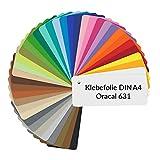 D007 Oracal 631 - Láminas adhesivas para plóter de corte (DIN A4, 21 x 29,7 cm), color verde
