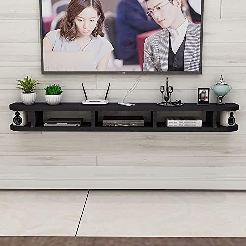 Mueble de TV Mesa Flotante,Gabinete de TV para Colgar en la Pared de Gran Capacidad, Estante Flotante de Soporte de TV para Ahorrar Espacio/B / 140x22x15cm