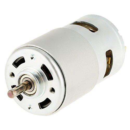Riuty Motor de Corriente Continua, Mini Motor Miniatura de Alta Velocidad del Motor eléctrico 12V 16000RPM para el generador de turbina de Viento
