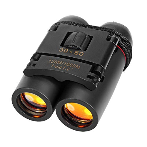 Smitex HD Professional Lightweight Pocket Size Binocular Telescope Folding 30×60 Zoom Lens for Sports, Hunting, Camping for Bird Watching (Black)