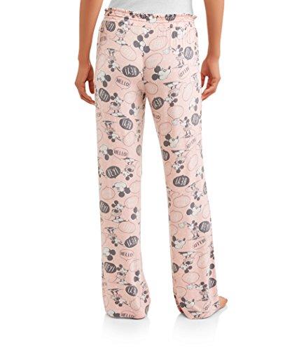 Disney Damen Schlafhose Mickey und Minnie Maus Strick - Pink - Medium (7-9 US )