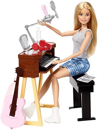 【Amazon.co.jp 限定】 バービー(Barbie) バービーとおしごと! ミュージシャンセット ドール アクセサリーセット 関節が曲がる 3才~ FCP73