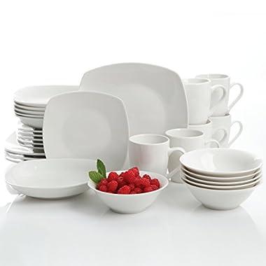 Gibson Home Hagen 30 Piece Dinnerware Set, White