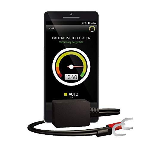 Battery-Guard Bluetooth-Batterieüberwachung via App | Zum Einsatz im Auto, Motorrad oder Wohnmobil | Geeignet für 6V, 12V und 24V Batterien | Einfache Installation, Schwarz, 40x25x20 mm