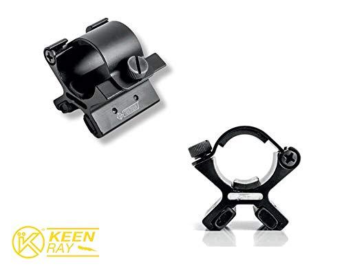 KEEN RAY Support adaptateur avec fixation magnétique pour lampe torche tactique 27 mm
