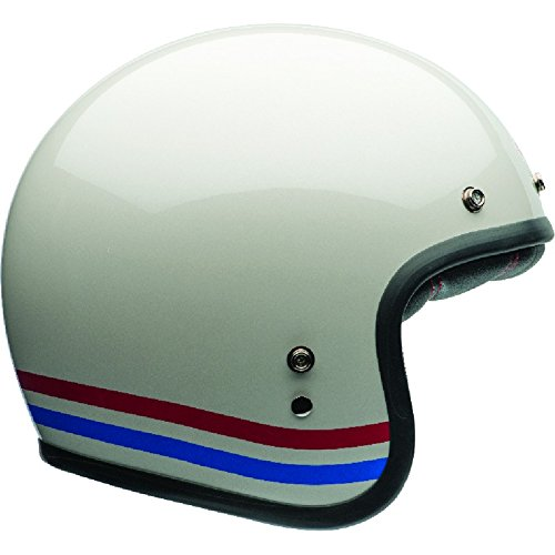 Bell Powersports Custom 500 Motorradhelm, Weiß (Stripes Pearl Weiß), L