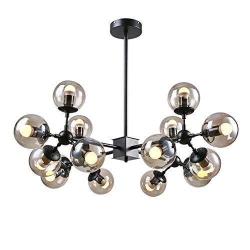 AMZH Lámpara de Cristal Moderno de la lámpara de Cristal del Metal Sala de Estar Lámpara de la lámpara de Cristal de la Cabeza de 12 Cabezas E27 110V 220V