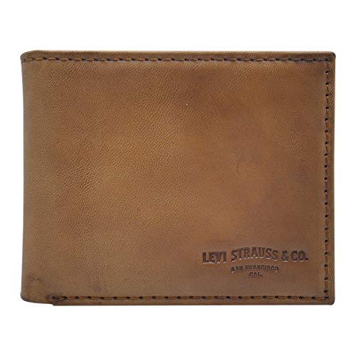 Levi's Men's Extra Capacity Slimfold Wallet, Turlock Tan, One Size