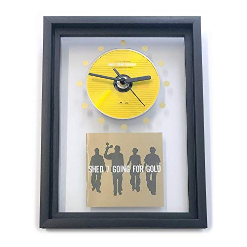 SHED SEVEN - Going For Gold: FRAMED CD ART CLOCK/Exclusive Design