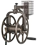 Liberty Garden 712 Single Arm Navigator Multi-Directional Garden Hose Reel, Holds 125-Feet of, 5/8-Inch, Bronze