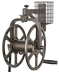 cheap Liberty Garden 712, single lever navigator, multi-directional garden hose reel, holding 125 feet …