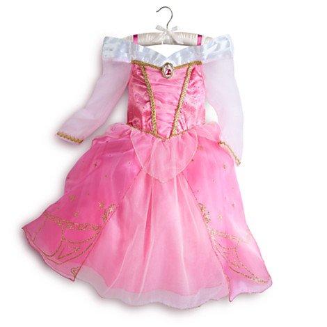 Disney original Costume - Rose - Robe Aurora / La Belle au Bois Dormant pour enfants - taille 7 - 8 années