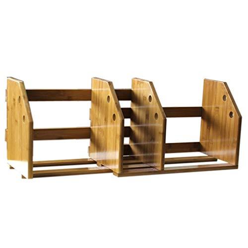 Boekenkasten, vitrinekasten, eenvoudige bamboe, kleine tafel planken, inklapbare opbergkasten, bureau-magazijnrekken
