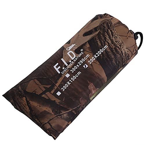 TAKE FANS Wasserdichte Armee-Camouflage-Zeltplane, Baldachin, Vorzelt, Regenschutz, Camping-Unterschlupf für Wandern, Rucksackreisen und Outdoor-Abenteuer (2 x 2 m)