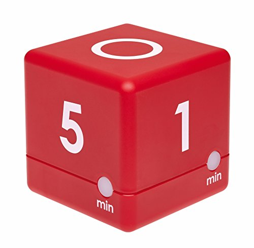 TFA Dostmann Digitaler Cube Timer, Zeitwürfel, 6 x 6 x 6 cm, rot, 38.2039.05