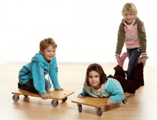 Profi Rollbrett für Kinder mit Griffmulde - für den Sportunterricht, therapeutische Übungen oder Psychomotorik
