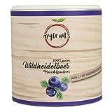 myfruits Wildheidelbeerpulver - ohne Zusätze, zu 100% aus Heidelbeeren, Fruchtpulver für Smoothie, Shakes & Joghurt. (200g)