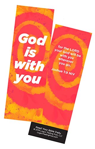 Children's Christian Bookmark - God is with You   Joshua 1:9   Pack of 25