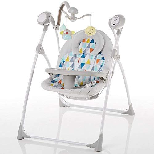 Juguetes para Bebés Cuna Eléctrica para Bebés Silla Mecedora para Recién Nacidos Silla Oscilante con Control Remoto/Asiento De 3 Velocidades