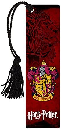 Harry Potter Hogwarts House Gryffindor Glossy Bookmark with Tassel for Gifting and Collecting product image