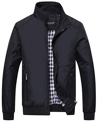 Bomberjack voor heren van lichte kraag van polyester, klassiek, lente, zomer, herfst, smalle kraag, bomberjassen