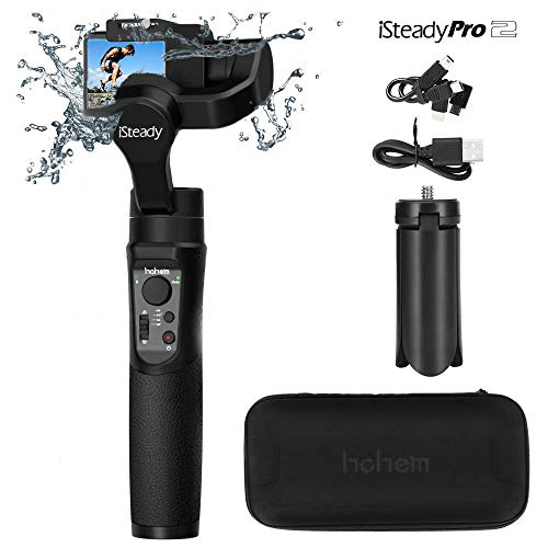 Hohem iSteady Pro 2 3 Axis Gimbal Handheld, protección contra Salpicaduras de Agua y diseño de Bisel, estabilizador para cámara de acción dji OSMO, Gopro Hero 7/6/5/4/3, Sony RXO, SJCAM, cámara YI