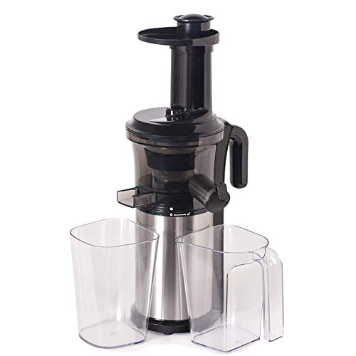 Exprimidor 200W acero inoxidable Masticating Slow Auger Juicer Fruit and Vegetable Juice Extractor Compact Cold Press Juicer Machine StandardKit