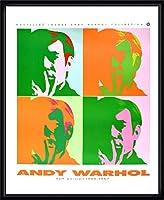ポスター アンディ ウォーホル セルフポートレート 額装品 ウッドハイグレードフレーム(ブラック)