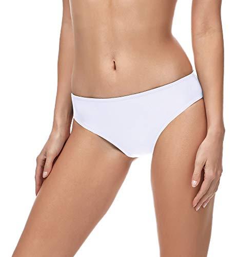 Merry Style Damen Bikini Slip MSVR1 (Weiß (0016), 36)