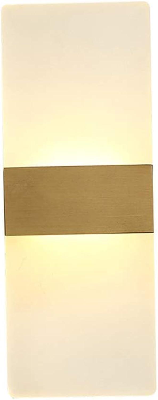 Raelf Persnlichkeit Mode Voll Kupfer LED Wandleuchte Postmoderne Wohnzimmer Wandleuchte Einfache Gang Flur Halterung Licht Kreatives Licht Luxus Nordic Beleuchtung PMMA Hohe Durchlssigkeit Lampensch